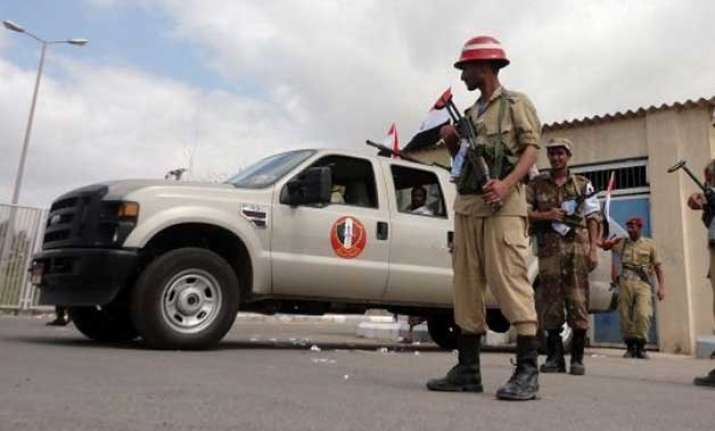 suicide bombing near yemen presidential palace eight killed
