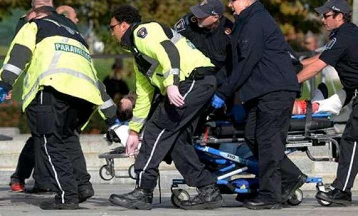 several gunshots fired near canadian parliament in capital