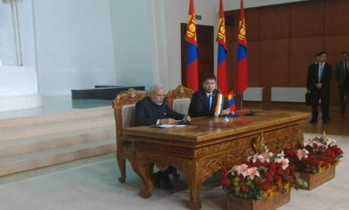 india privileged to be mongolia s spiritual neighbour modi