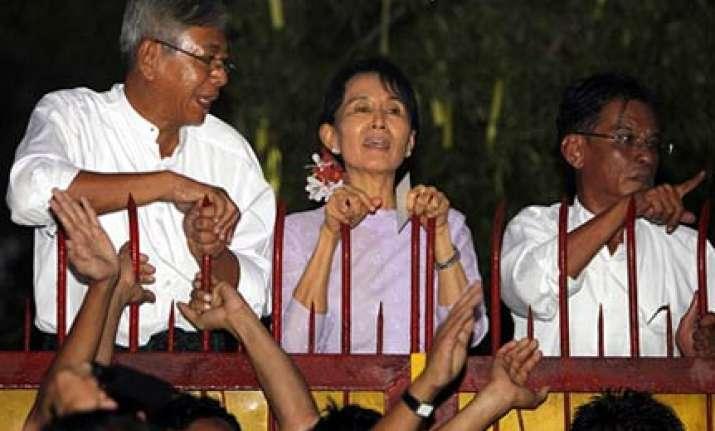 myanmar democracy leader aung san suu kyi released