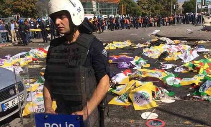 turkish pm hints at isis role in ankara bombing
