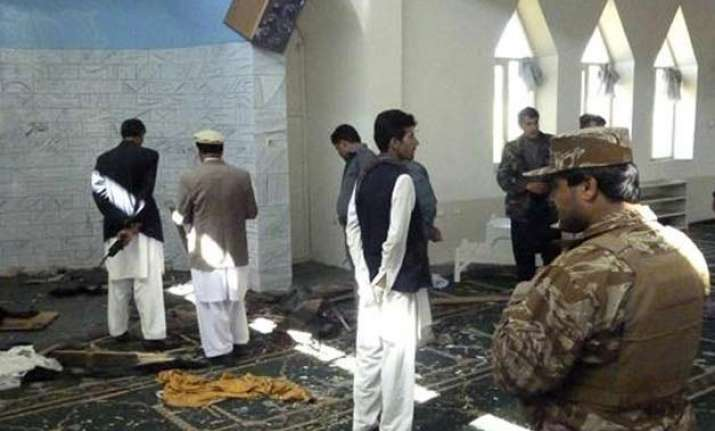 bomb blast hits afghan mosque 29 wounded