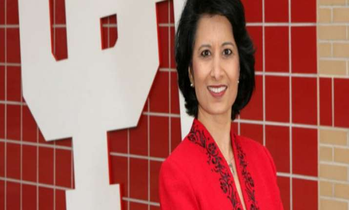 indian american renu khator elected head of us education