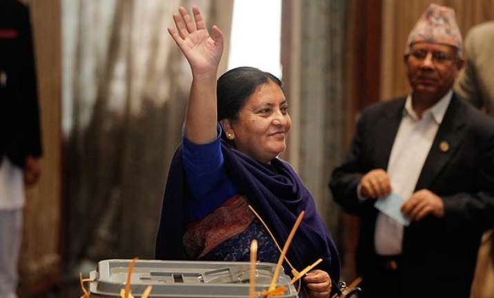 nepal s parliament elects nation s first female president