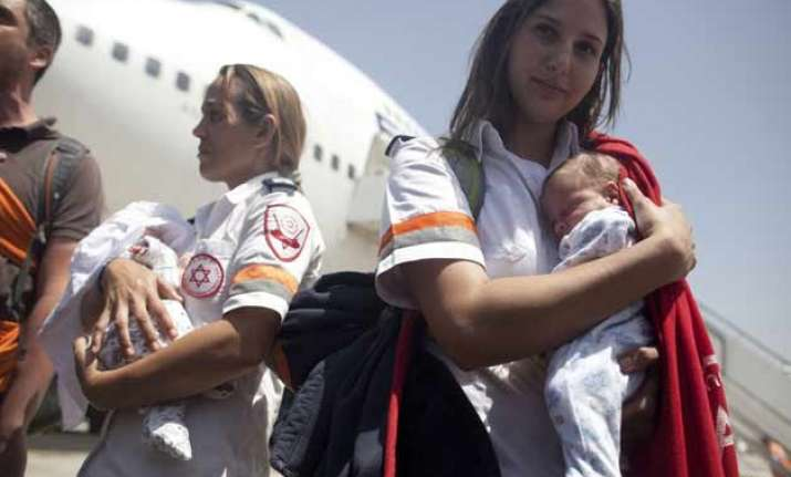 israel evacuates its surrogate babies from nepal leaves
