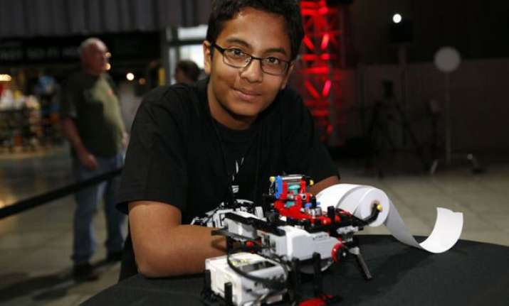 indian origin boy working with microsoft for braille printer