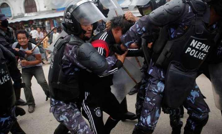 pro statehood protesters attack police in west nepal 9 dead