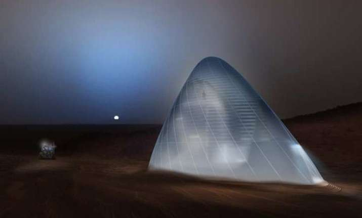 imagine home on mars ice shelter design wins nasa award