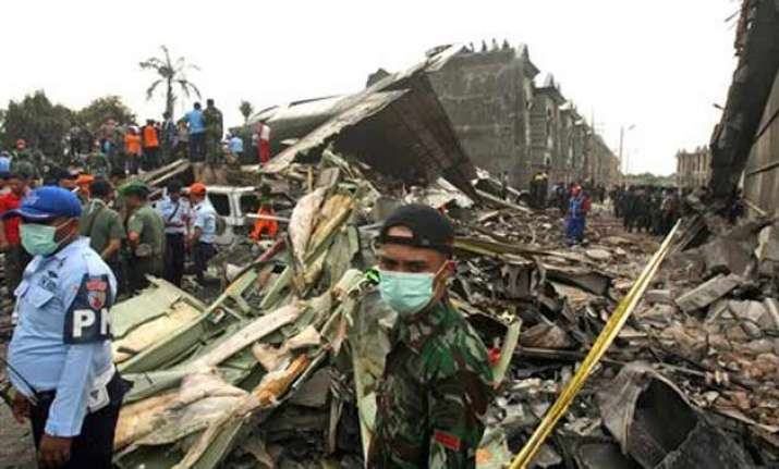 indonesia military plane crash 141 bodies recovered from