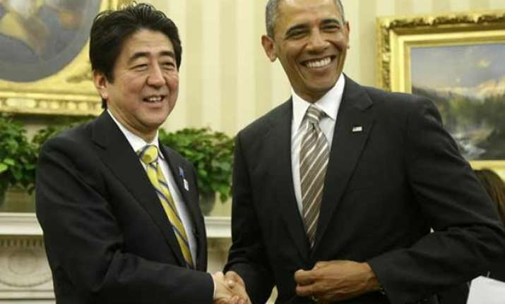japan s pm goes to us to showcase close ties