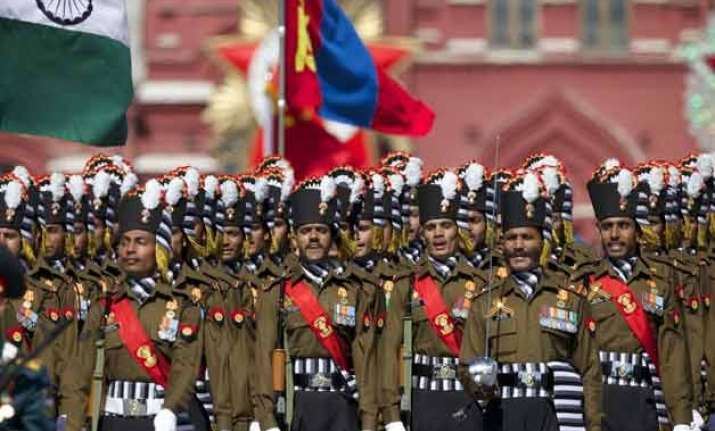 colourful safa of indian army attracts attention in moscow