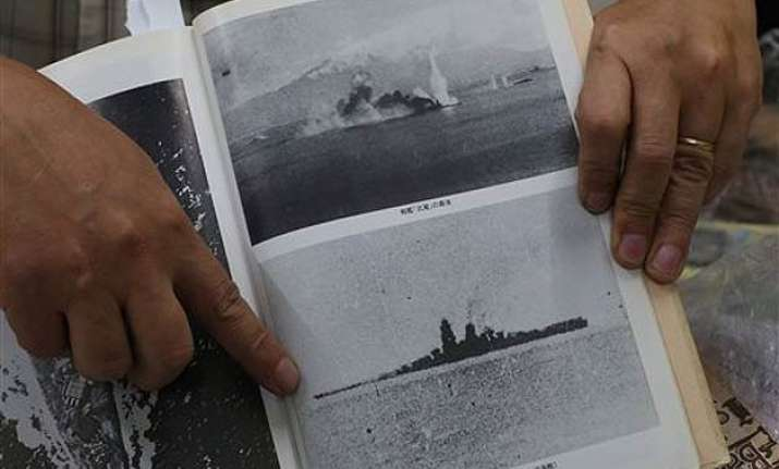 ex crew recognizes photos of sunken japanese battleship