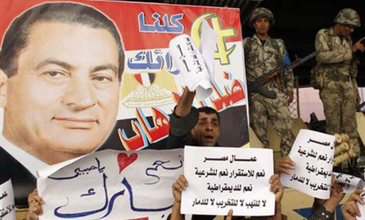 mubarak ready to go but fears chaos report