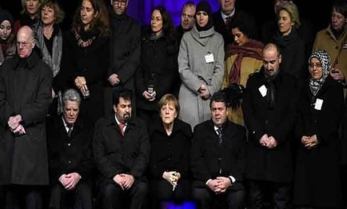 merkel ministers attend muslim solidarity rally