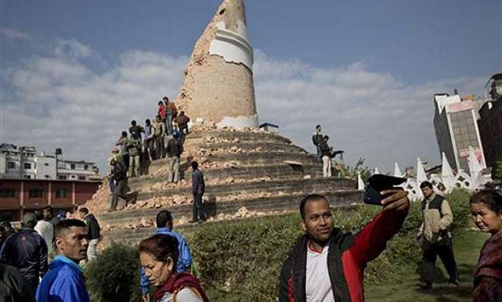 nepaldevastated quake ravaged dharahara tower a site for