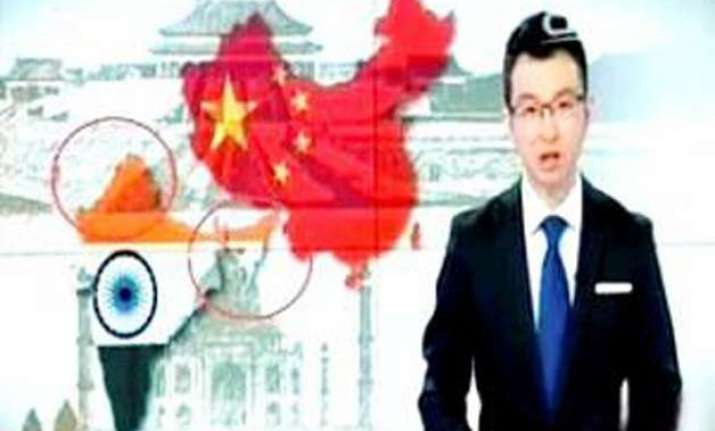 china s cctv channel shows india s map without j k and