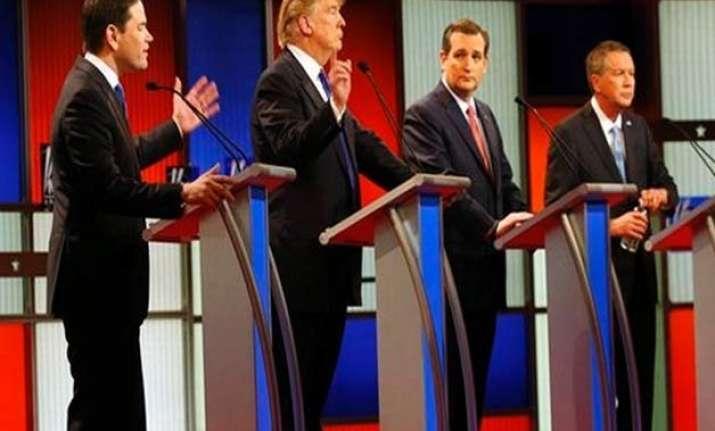 donald trump versus the rest republican race turns nasty