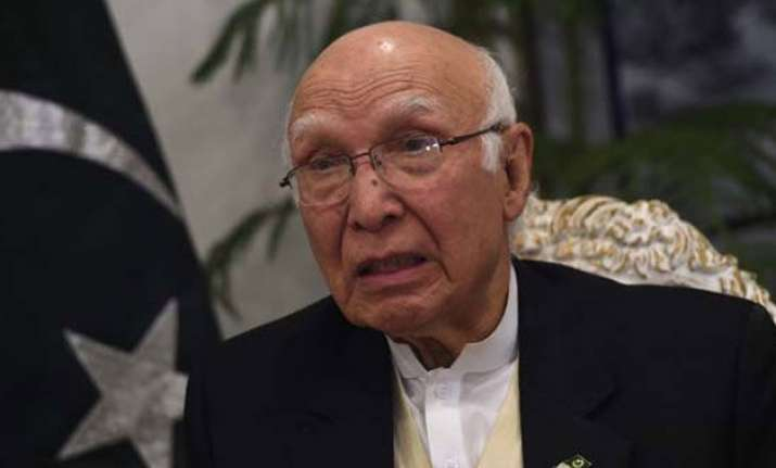 pakistan harbours afghan taliban leaders admits sartaj aziz