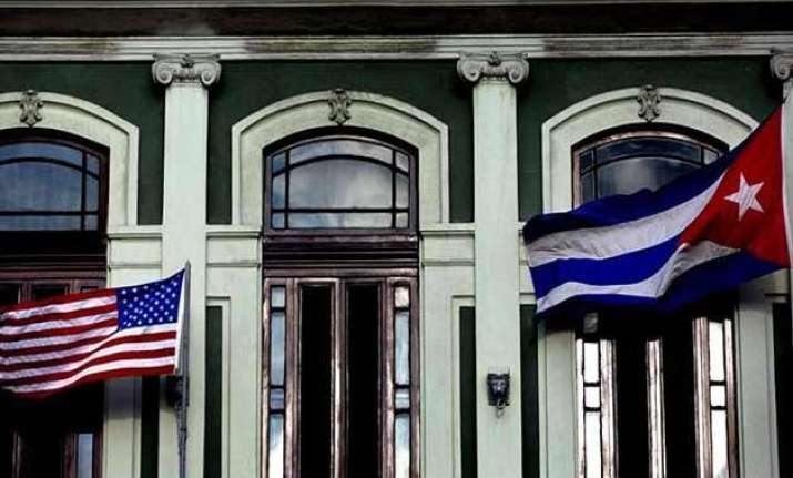 cuba s reopened embassy in us to fly original vintage flag