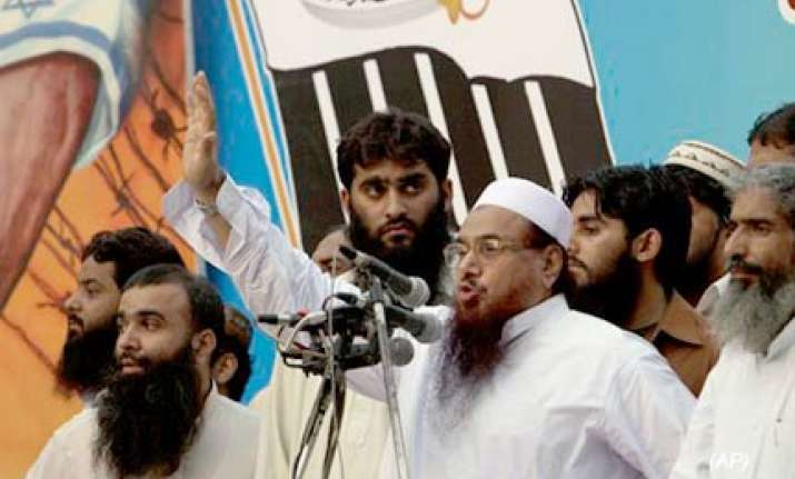 jud chief hafiz saeed addresses rally in lahore