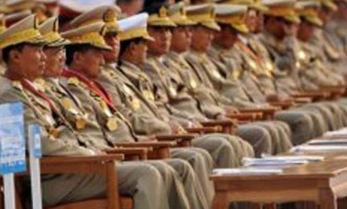 myanmar generals shed uniforms ahead of election