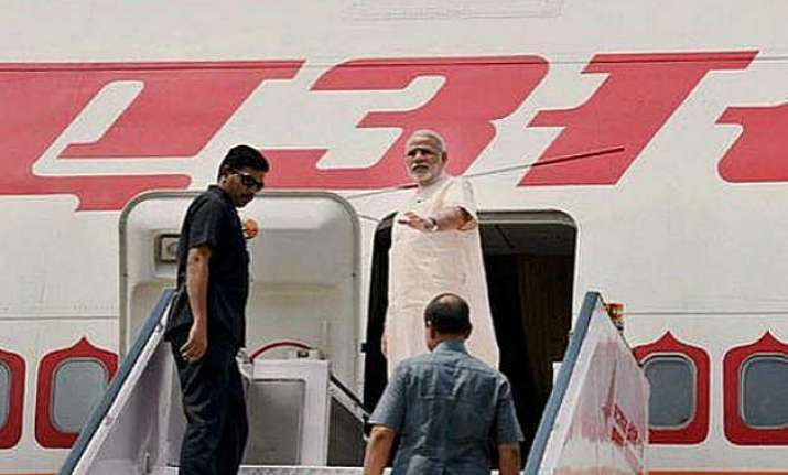 air india one develops problem standby sent to ferry pm modi