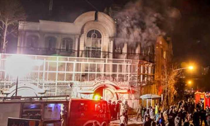 saudi consulate in iran reportedly set on fire by protesters