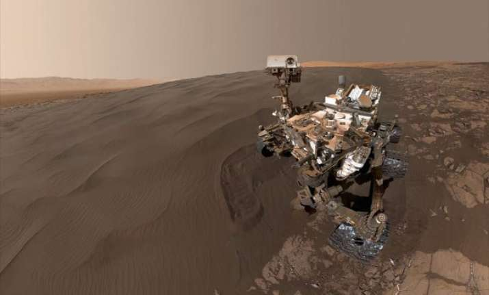 nasa s curiosity rover clicks a selfie on mars