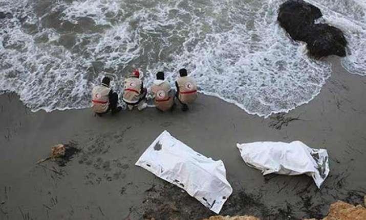 bodies of 40 migrants wash ashore in libya