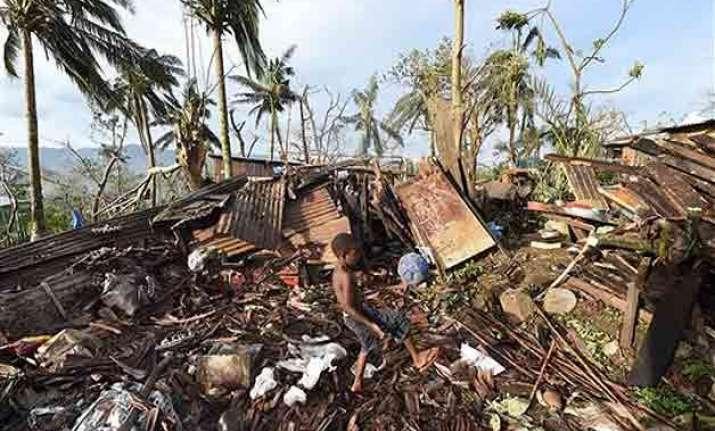 cyclone flattened the landscape in vanuatu s outer islands