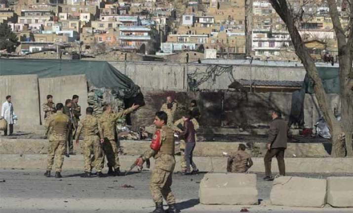 kabul suicide bombing stuns police base 10 killed