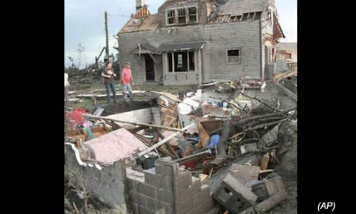tornado rips down entire house in us as couple had lucky