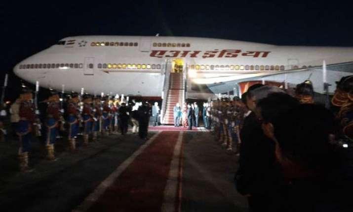 pm modi arrives in mongolia on historic visit