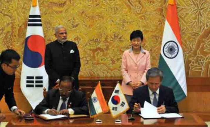 india south korea ink seven agreements