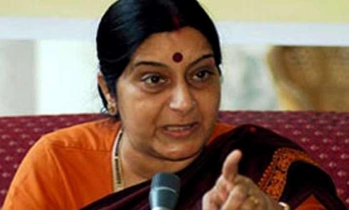 sushma swaraj to visit mauritius attend diaspora event
