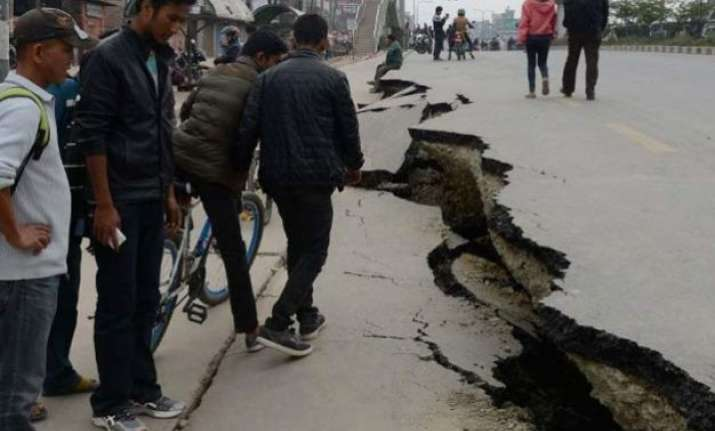 tuesday s quake cuts off nepal china highway