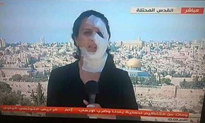 injured by a grenade this journalist reported live wearing