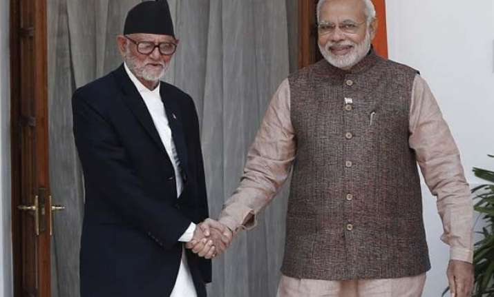 nepal pm came to know about earthquake from narendra modi s