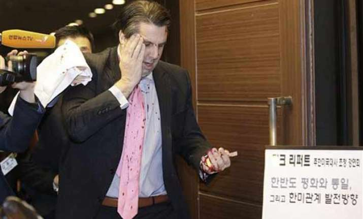 attack on us envoy part of s.korea s violent protest history