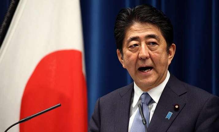 prime minister shinzo abe stops short of apology for world