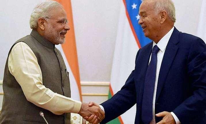 pm modi holds talks with uzbek prez terror afghanistan