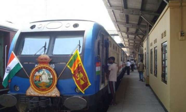 india assisted northern lanka railways trial run successful