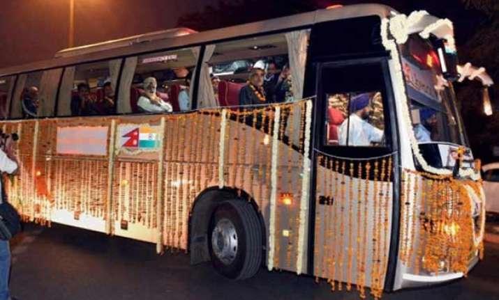 kathmandu varanasi bus service flagged off