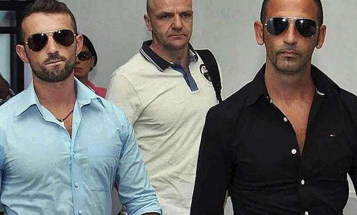 suspend all trials against italian marines un court tells