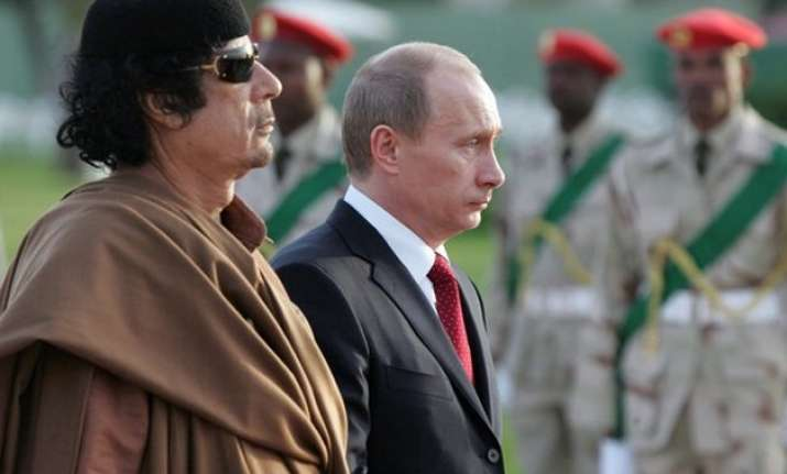 muammar gaddafi tried to marry son to vladimir putin s