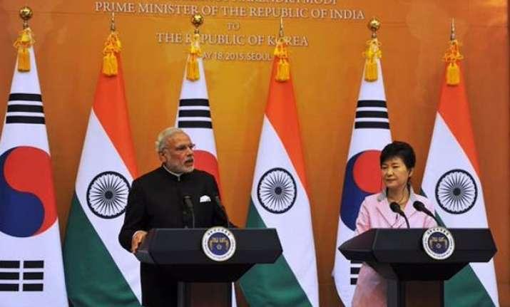 s korea pledges usd 10 bn for infra development in india