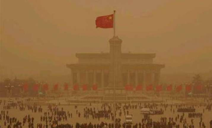 orange sky blankets beijing in biggest sandstorm