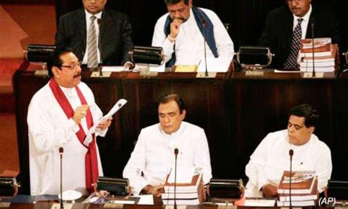 rajapaksa unveils new expanded sri lankan cabinet