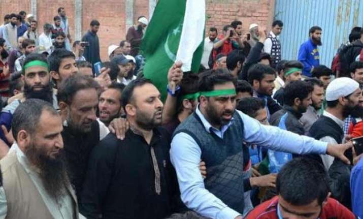 separatists waving flag in srinagar shows love for our