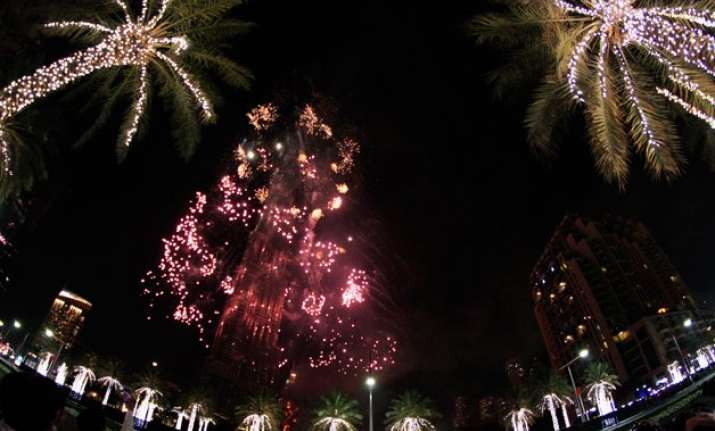 despite fears and huge dubai fire new year revelry rolls on